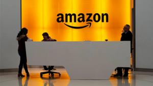 Recepción de las oficinas de Amazon
